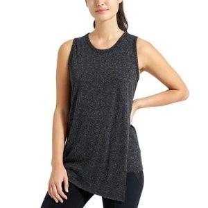Athleta Getaway Asymmetrical Tank Top Gray Large